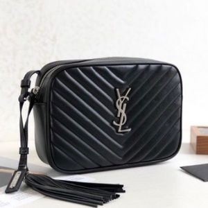YSL Small Camera Bag Chain CrossBody Black